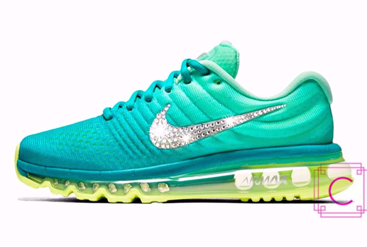 2017 Women's Nike Air Max Aquamarine with Swarovski crystal details - CRYSTAHHLED