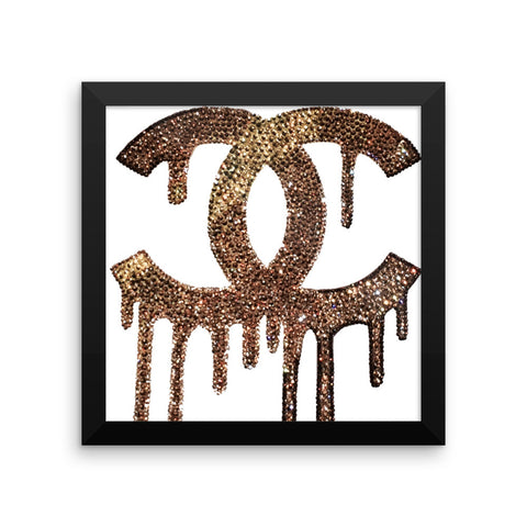 Framed Print - Dripping C's - CRYSTAHHLED