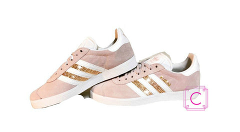Women's Adidas Gazelle with SWAROVSKI® Xirius Gold Crystals - CRYSTAHHLED