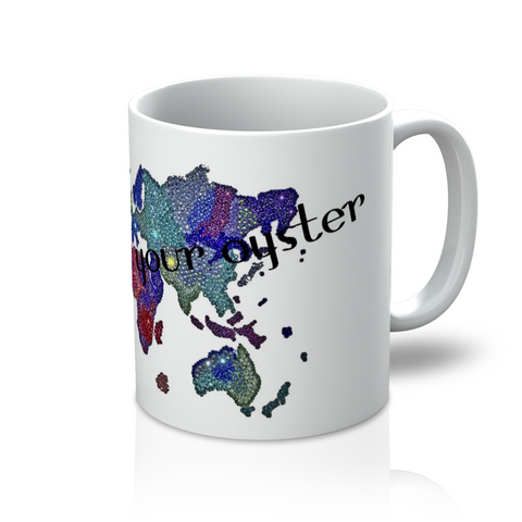 Coffee Mug - The World - CRYSTAHHLED