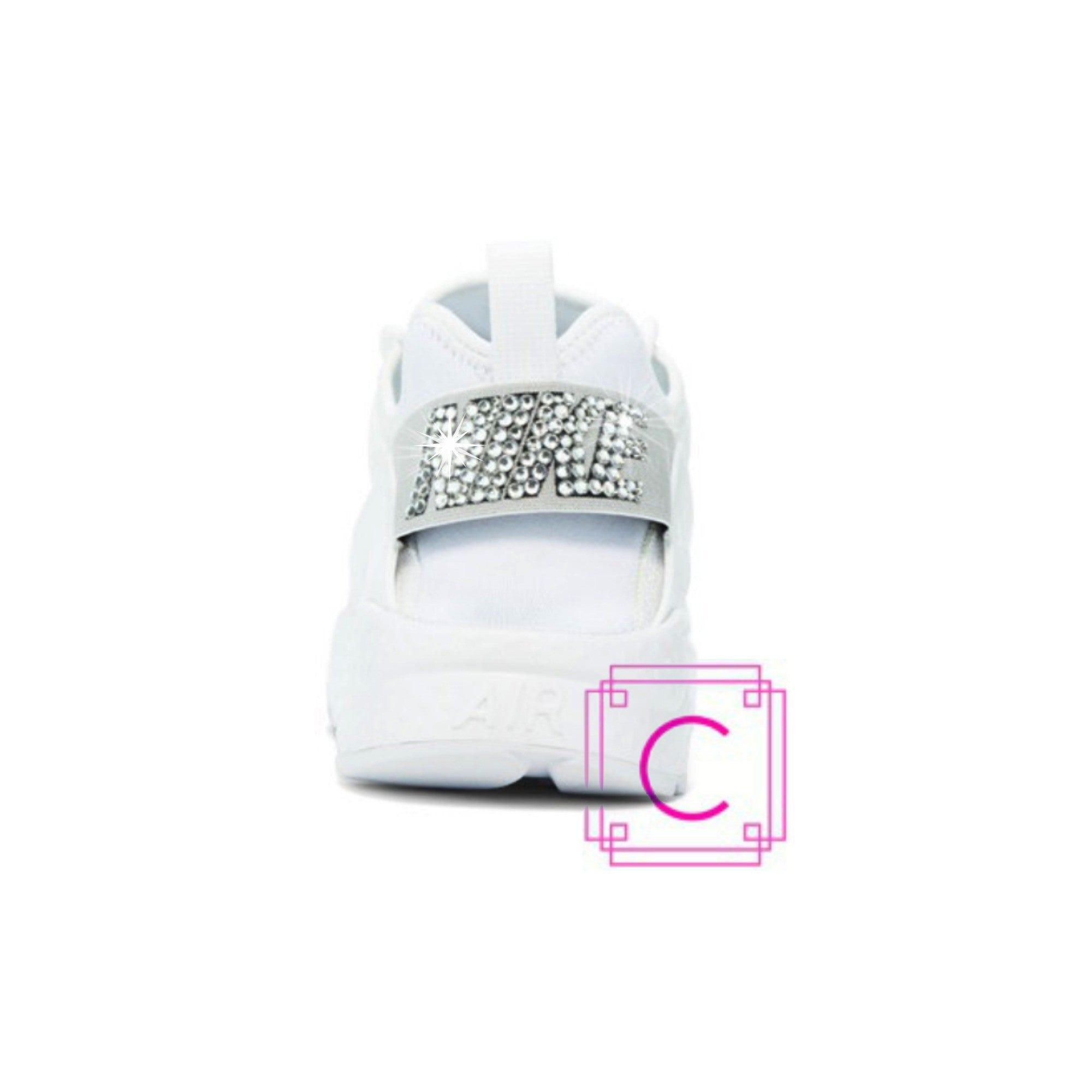 Women s Nike Air Huarache Run Ultra in White w SWAROVSKI® Crystal details -  CRYSTAHHLED 2a2630cd8