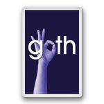 Fridge Magnet - Goth Hand