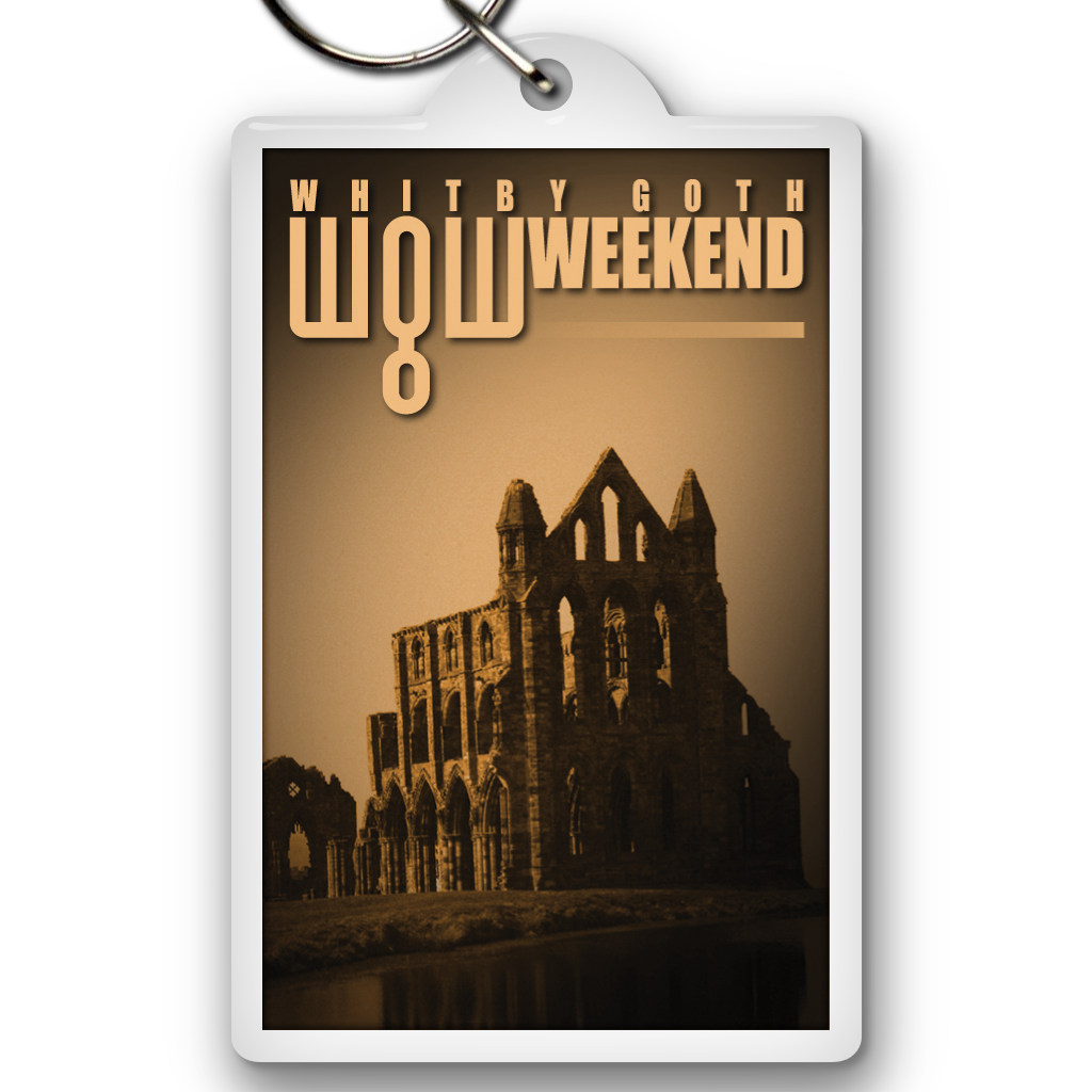 Keyring - Whitby Abbey (Rectangular)