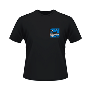 T-Shirt (Black) - Blue Bats Logo