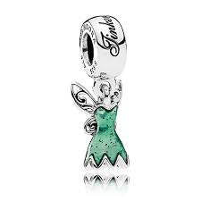 Pandora Disney, Tinker Bell's Dress, Glittering Green Enamel Item #792138EN93