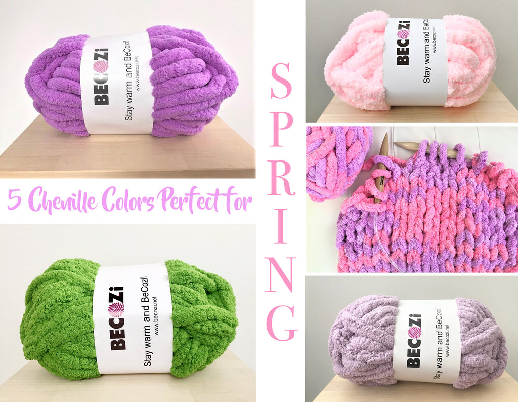 5 Chenille Colors Perfect for Spring