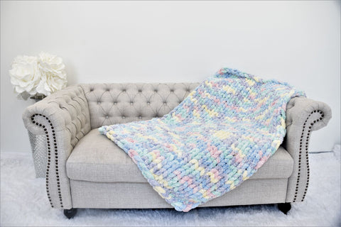 Chenille Yarn Blankets and Throws