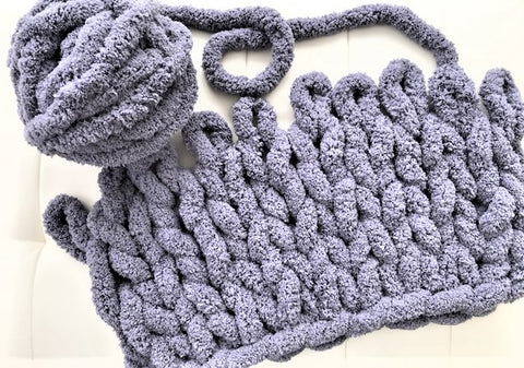 Chenille Yarn DIY Knitting and Crochet Kits