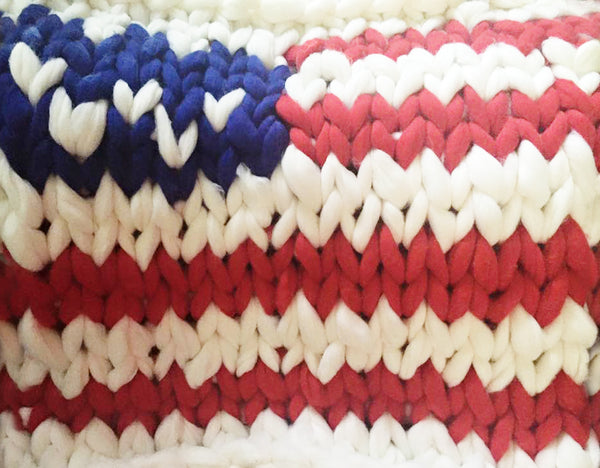becozi american flag chunky knit blanket