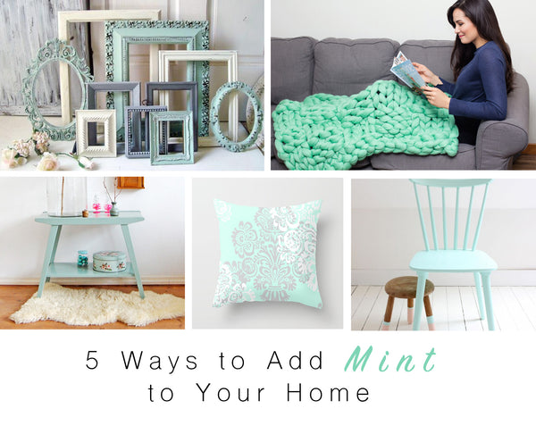 becozi 5 ways to add mint to your home chunky blanket home decor