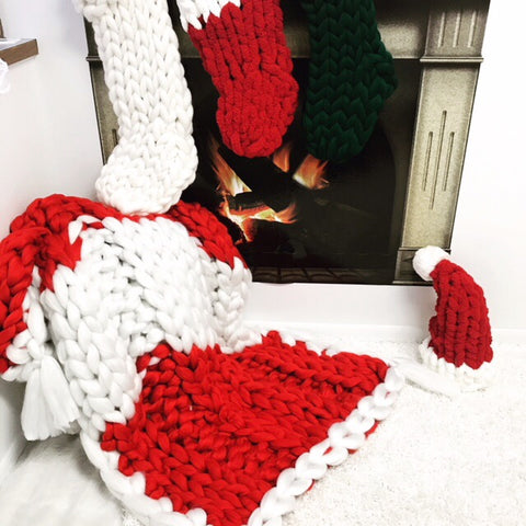 becozi holiday collection chunky knit blankets