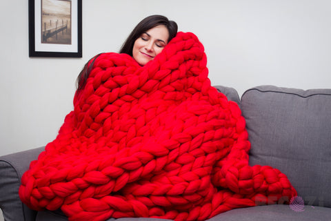 becozi chunky merino wool blanket