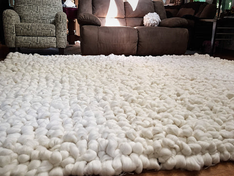 becozi merino wool rug chunky knit giant rug