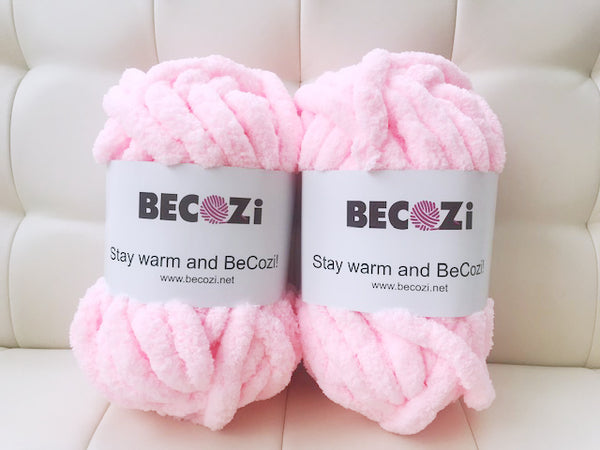 becozi chunky knit supplier merino chenille tube yarn giant stitch