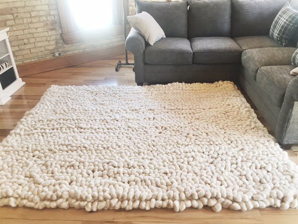 becozi merino wool handwoven rug