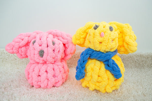becozi chunky knit supplier merino chenille tube yarn giant stitch easter bunny