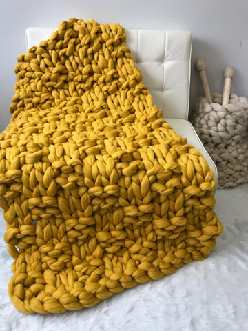 becozi merino wool chunky blanket knitting