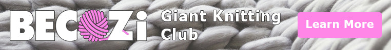giant knitting club banner
