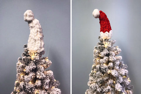 becozi christmas tree chenille toppers