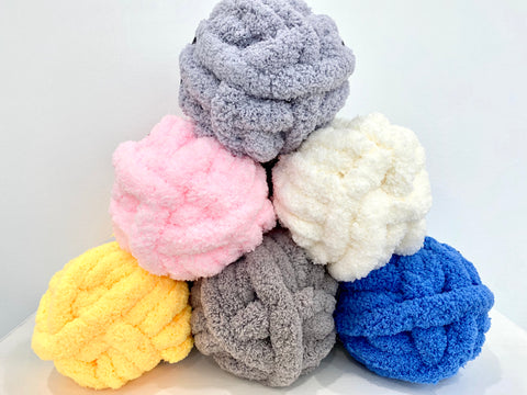 Jumbo Chenille Yarn, over 1 inch thick