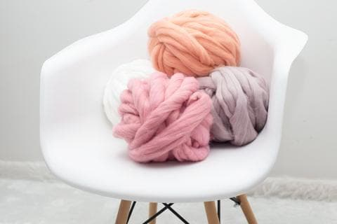 Super Chunky Merino Wool, 2.5 inch thick
