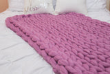 Merino wool DIY Arm Knit Kit, Medium Blanket 35x60 in