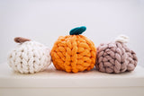 Pumpkin pillow pattern, Merino wool