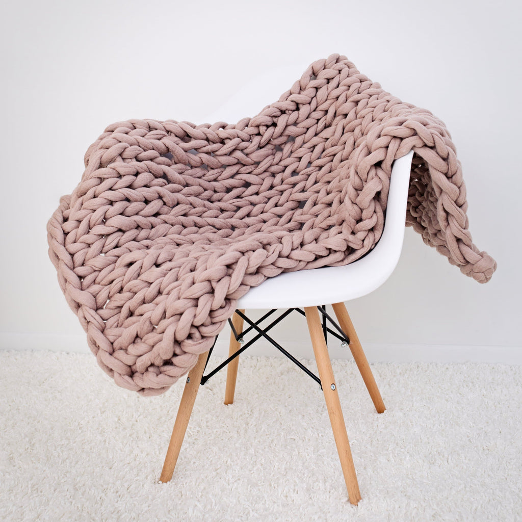 Felted Merino Wool Throw