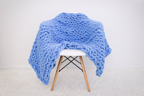 Class: Hand Knit Your Blanket:  January 24, 2020