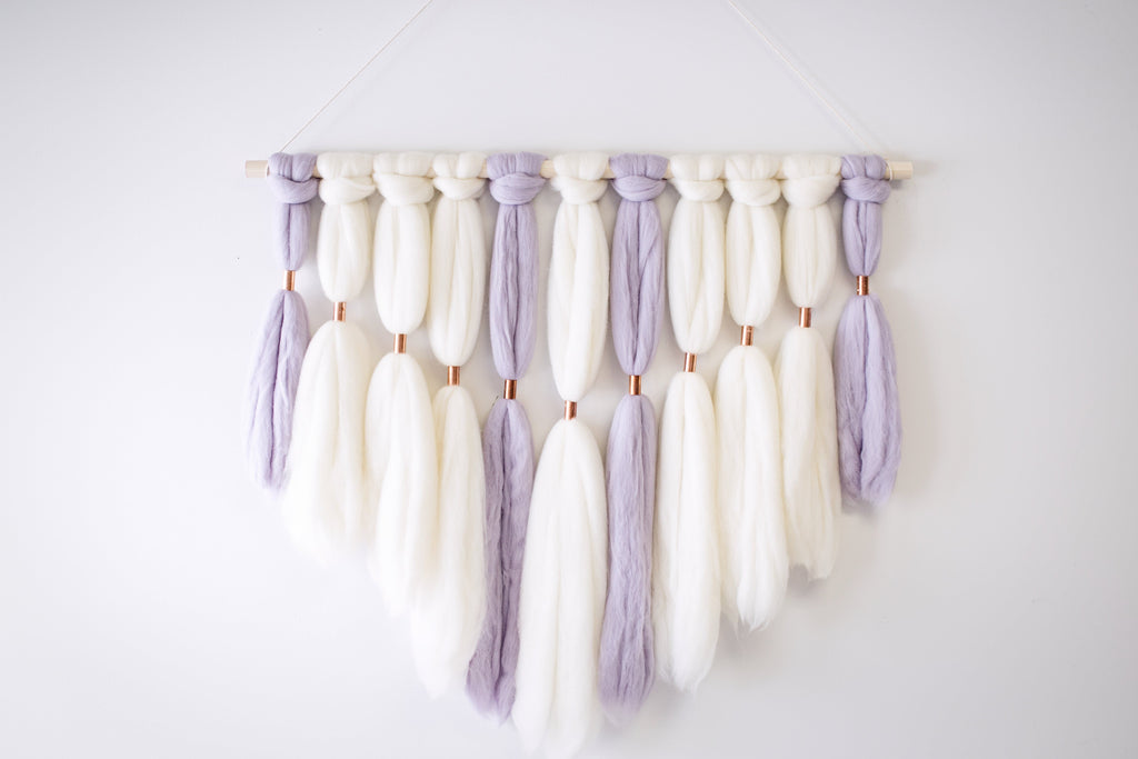 Merino Wool Wall Hanging, Dream Catcher