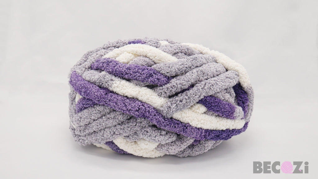 Chunky Chenille Yarn, Variegated Colors, 2/3 inch thick