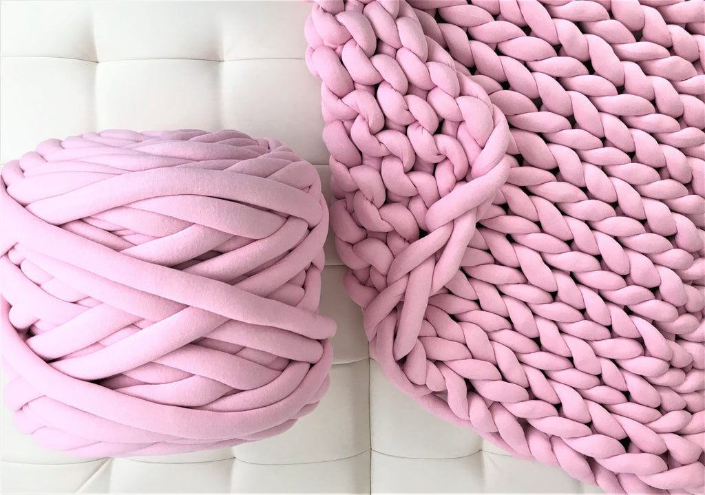 Chunky Cotton Tube Yarn, 2 inch thick
