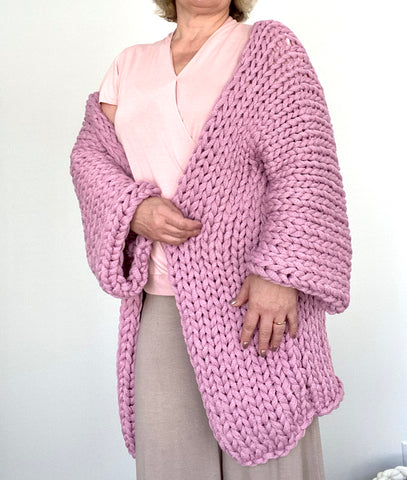 DIY Knit Kit for a Cardigan/Loopy Stitch Yarn