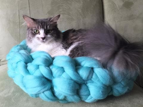 Pattern for a Merino Wool Cat bed