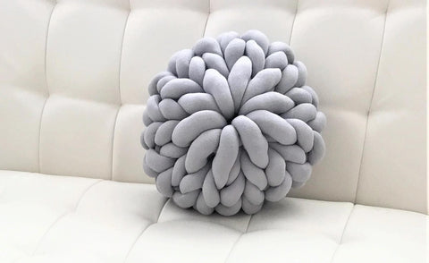 Round Pillow, Cotton Tube yarn