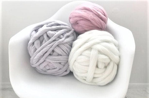 Super Chunky Vegan Yarn, 2 inch thick