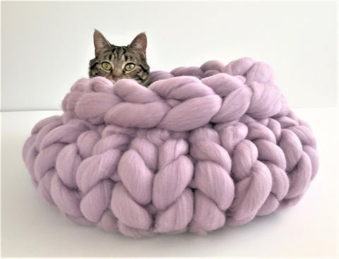 Merino Wool Cat Bed