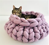 Merino Wool, Cat Bed, 16 in