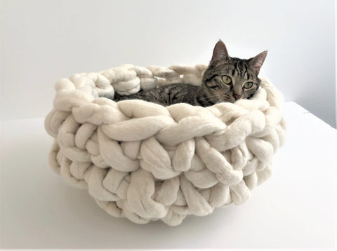 Felted Merino Wool Cat bed