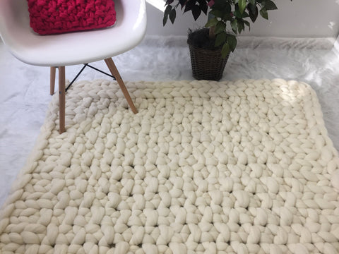 Thick Merino Wool Rug
