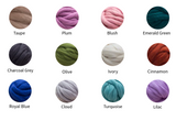Merino wool DIY Hand Knitting Kit, Blanket 40x60 in