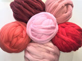 Super Chunky 100% Merino Wool, Red colors
