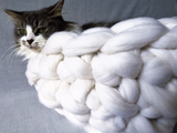 Merino Wool, Cat Bed, Chunky Merino Wool, 16 in