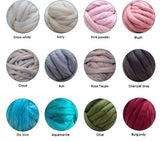 Vegan Yarn DIY Hand Knitting Kit, Blanket 30x50 in
