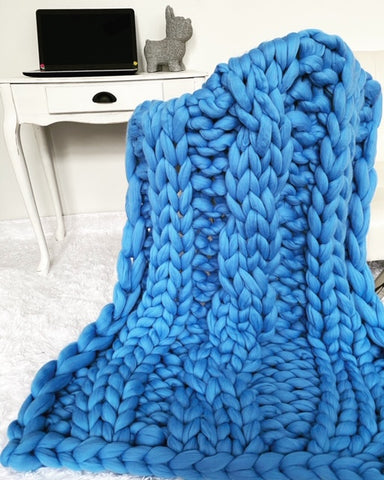 Merino Wool, Cable Knit Throw