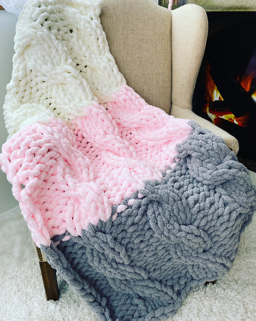 Chenille blanket, Medium size