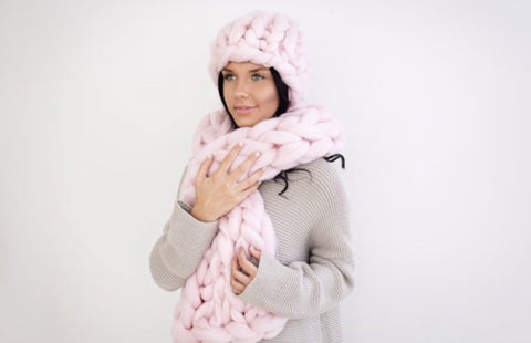 Vegan scarf and hat set