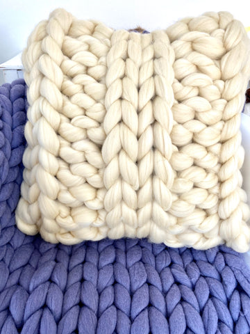 Square Pillow, Merino wool