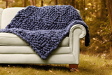 Throw blanket in Basket weave pattern, Medium