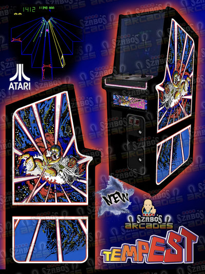 NEW Tempest custom side art for Cabaret cabinet